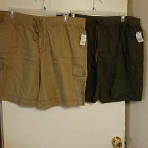 Pants - 2 pc shorts lot NWT 24W